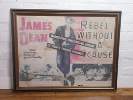 Film poster original paper prop vintage antique