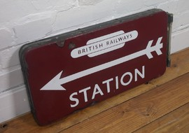 railwayana railway double sided enamel sign totem railway totem