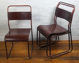 stacking chairs vintage retro kitchen bakelite