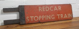 railwayana railway british totem wooden sign