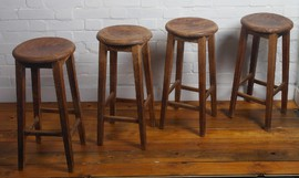 victorian school stools antique vintage industrial