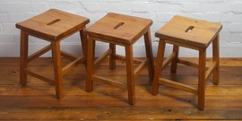 school wooden beech childs stool child